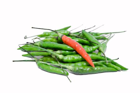 red chilly: Green and red bird chilli