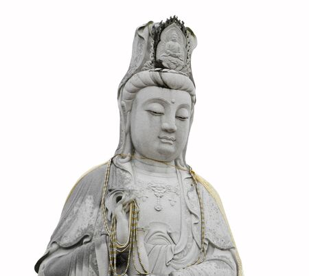 Guanyin figure sculpture isolated  photo