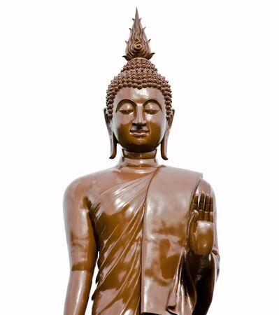 venerable: Standing Buddha statue isolated