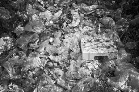 environmental problems: Dump near living area, environmental problems from human being