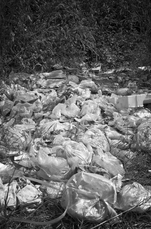 Dump near living area, environmental problems from human being  photo