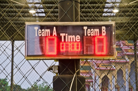 Digital scoreboard inside indoor football field Stock Photo - 12385012