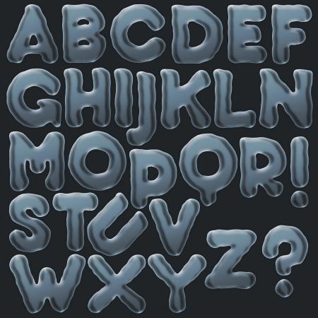 Set of Bubble Alphabet A-Z