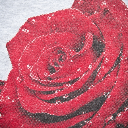 Red Rose Fabric Texture Background  photo