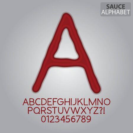 salsa de tomate: Tomate del alfabeto salsa y Números