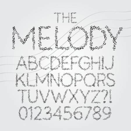 Musical Symbol Alphabet and Digit Vector