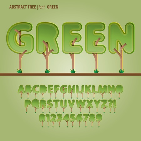 Abstract Tree Alphabet and Digit Vector Vector