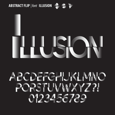 Abstract Flip Alphabet and Digit Vector