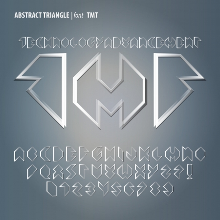 Abstract Triangle Alphabet and Digit Vector