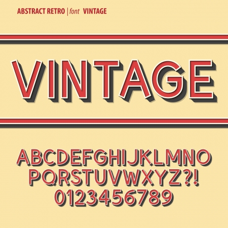 Abstract Retro Alphabet and Digit