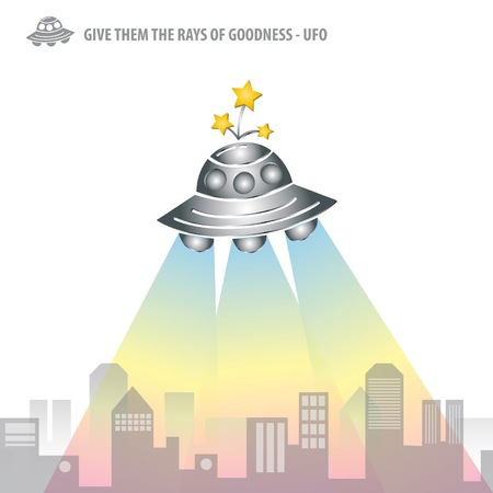 The Rays of Goodness from UFO Artwork Vector Vector