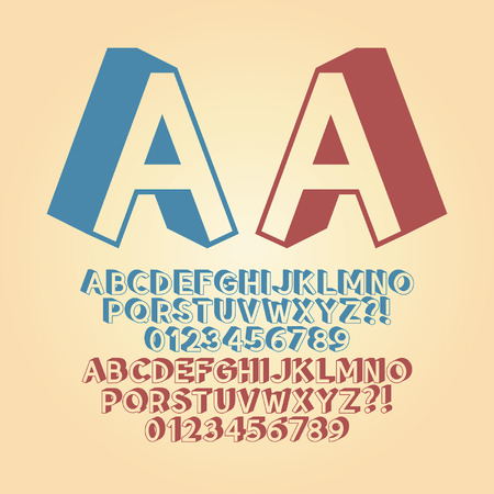 Downwards Isometric Alphabet and Digit  Vectores