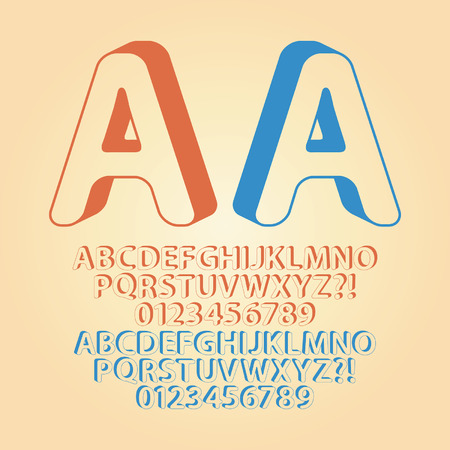 downwards: Rounded Downwards Isometric Alphabet and Digit Vector