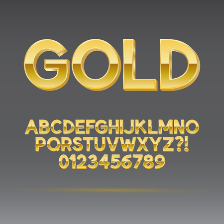 Gold Font and Numbers