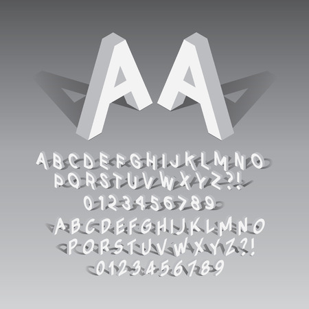Isometric Font and Numbers