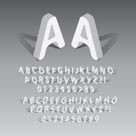 Isometric Rounded Font and Numbers