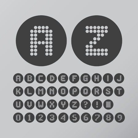 numbers abstract: Abstract Circle Dot Font and Numbers