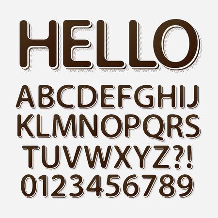retro font: Arrotondato Retro Font e Numeri