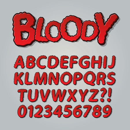 gore: Bloody Comic Pop Art Alphabet and Numbers,