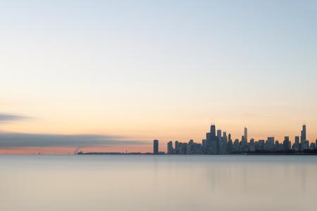 Chicago city sunrise