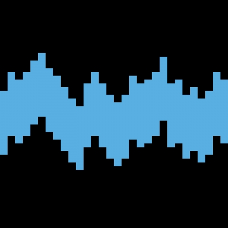 Seamless Pixel soundwaves Stock Illustratie