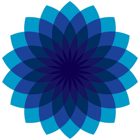 Blue Abstract Flower