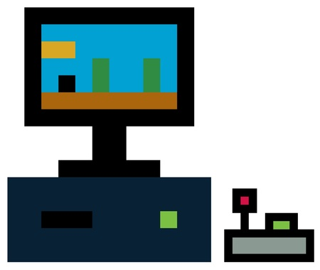 Pixel pc and joystick