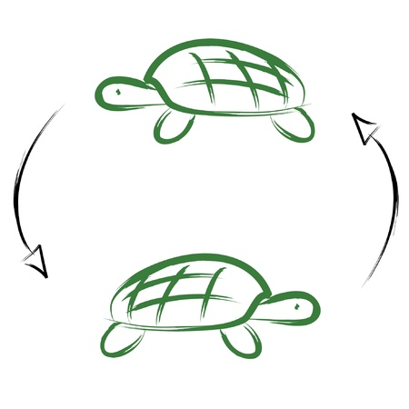 Turtles Drawings Stock Illustratie