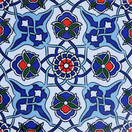 Turkish traditional wall tile photo
