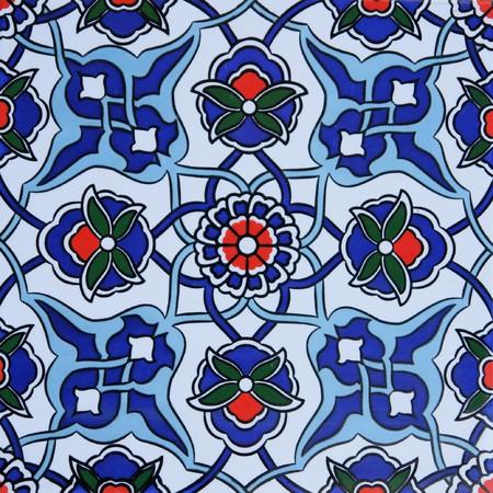 Turkish traditional wall tile Stock Photo