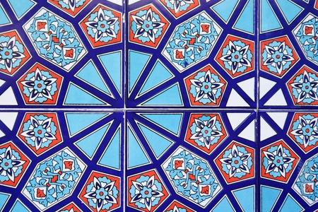 Turkish wall tile background  photo