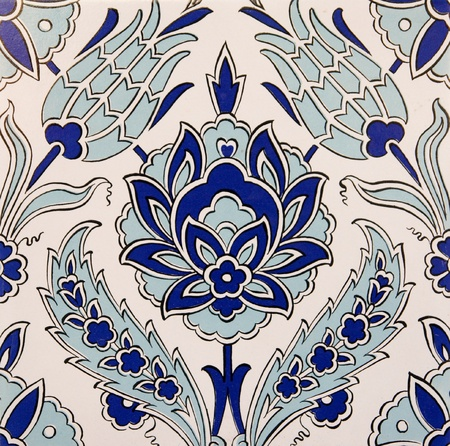 Turkish wall tile background  photo