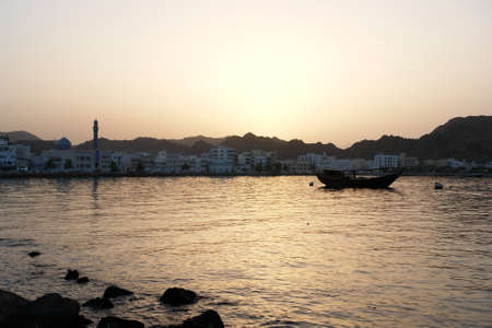 Muscat Oman by sunset photo