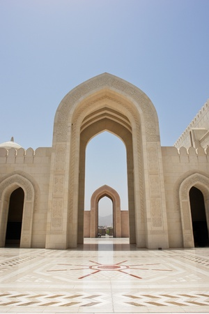 Muscat - Oman, Sultan Qaboos Grand Mosque - Gate photo
