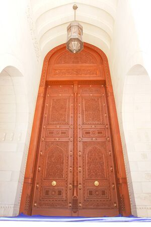 Muscat - Oman, Sultan Qaboos Grand Mosque gate photo
