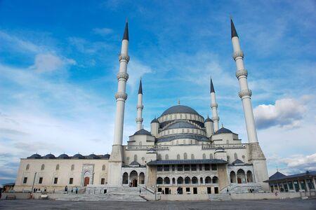 Kocatepe Mosque in Ankara, the capital of Turkey  photo