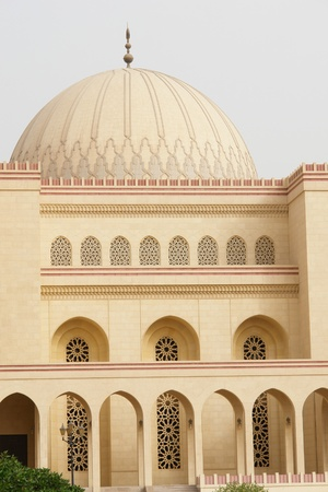 symetry:  Bahrain,  Al-Fateh Grand Mosque detail Stock Photo