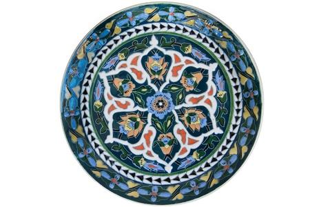Turkish tile - isolated on white background photo