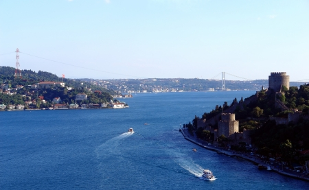 bosphorus: Istanbul bosphorus strait - Turkey