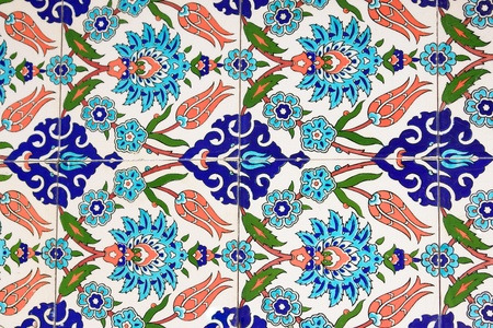 Turkish wall tile background