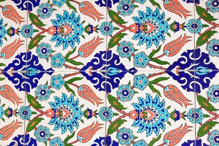 background motif: Turkish wall tile background