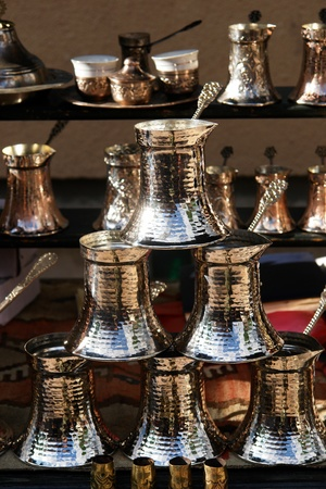 turkish coffee pots  photo