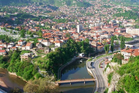 saraybosna: Sarajevo, Bosnia and Herzegovina - cityscape  Stock Photo