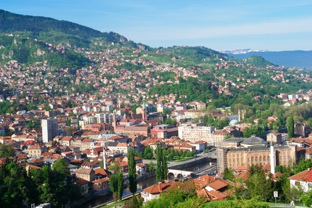 Sarajevo, Bosnia and Herzegovina - cityscape  Stock Photo