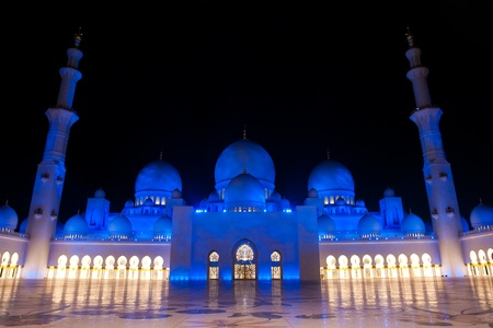 sheik: Abu Dhabi, UAE -Shaikh Zayed Mosque
