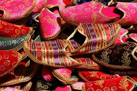 bazaar: Turkish slippers  Stock Photo