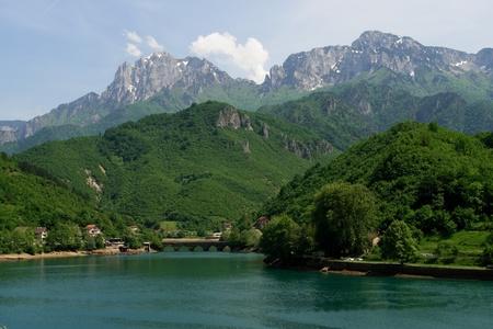 herzegovina: Landscape in Bosnia Herzegovina in spring  Stock Photo