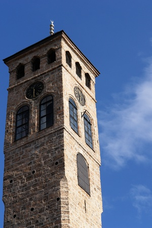 saraybosna: Watch tower detail in Sarajevo, Bosnia and Herzegovina