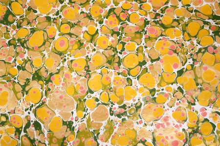 marbled: Turkish marbled paper artwork               Stock Photo