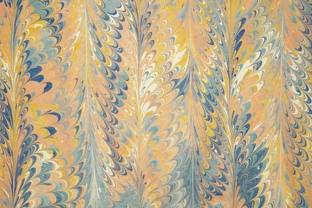 marbling: Turkish marbled paper artwork